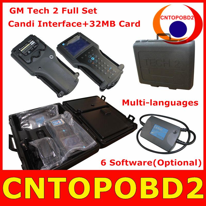 GM TECH2 Diagnostic Tool For GM SAAB Holden Isuzu Opel Suzuki Full Set Vetronix Tech 2 Scanner With Candi Interface+32MB Card(China (Mainland))