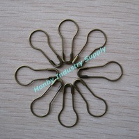 DHL/TNT Free Shipping 22mm Size Pear Shape Metal Material Bronze color Garment Tag Pins