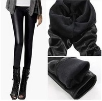 FREE SHIPPING!!  New winter leather pants plus velvet thickening matte imitation leather leggings wholesales