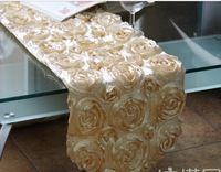 new rose design of table runner/hot table overlays rose flower design table runner deocorations