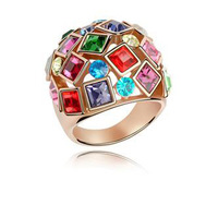 Retail The queen  fashion crystal ring  for women