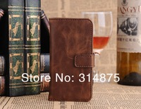 50pcs/lot DHL Free Vintage Series Crazy Horse Leather Wallet Case For Iphone 5C