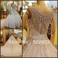 [High-Quality]Free Shipping Luxury Crystal Wedding Dress 2014 Plus Size Style 2701