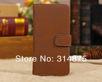 50pcs/lot DHL Free Luxury Retro Stand Leather Wallet Case For Iphone 5C