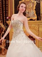[High-Quality]Free Shipping Luxury Crystal Wedding Dress 2014 Plus Size Style 2704