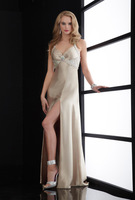 Free Shipping  Halter Pearl  Fashion  Long  Evening Dress 2014