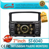 Free shipping!!! Auto media player for Mitsubishi Pajero / Montero with GPS Radio TV 3G DVD RDS dual zone steering