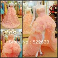 [High-Quality]Free Shipping Luxury Crystal Wedding Dress 2014 Plus Size Style 2709