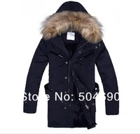 High Quality Brand Men's Down Coat Warm Winter Jackets Overcoat Outwear Fur Collar Duck Down Jacket Long Down Parkas New Arrival