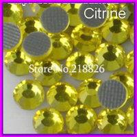 SS10 2.7-2.8mm,1440pcs/Bag Citrine DMC HotFix FlatBack Rhinestone,heat transfer  iron-on garment stones