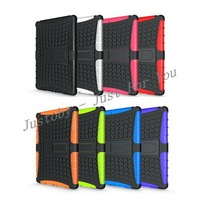 For iPad Air Slim Armor Case, 2 in 1 Hybrid TPU PC Combo Case For iPad 5 iPad Air With Stand 8 Colors In Stock DHL Freeship