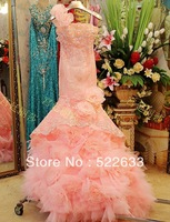 [High-Quality]Free Shipping Luxury Crystal Wedding Dress 2014 Plus Size Style 2707