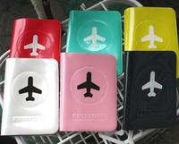 fashion stationery happy flight travel passport holder candy color passport bag  free shipping
