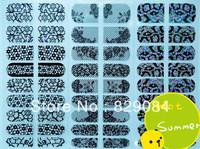 2013 nail art wrap nail bling DIY Zebra strip Animal Print Nail Polish Art Sticker Foil 120 sheets/lot