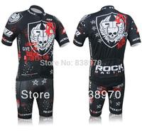 High quality! Hot 2012 rock racing Team Cycling Jersey Short Sleeve and bicicleta (bib) Shorts/ Sportswear ciclismo clothing set