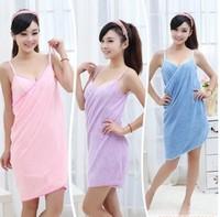 2014 New Fashion Swimwear Absorbent Microfiber Fleece Bath Shower Spa Body Wrap Towel Robe Free Shipping
