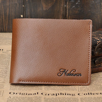 100%  genuine leather men wallet fashion & hot short design wallet men two color for you promotional price 1818