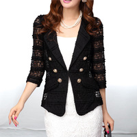 Plus size clothing mm2013 summer lace small suit jacket all-match shirt