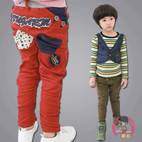 2013 winter children's clothing children's pants male female child child baby plus velvet trousers casual pants trousers