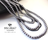 Mix order $10 free shipping fashion accessories 21 gray pearl long design necklace hh