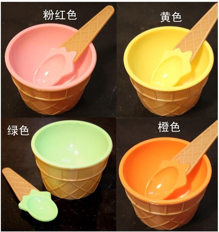 Colorful Ice Cream Bowls Ice Cream Bowl Spoon / Color