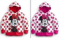Retail 2013 Girls Hoodies Shiny Hot Drilling Long Sleeve Hoodies Minnie Cartoon Top Kids T-Shirts Fit 2-6 Yrs Free Shipping