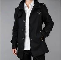 2014 Seconds Kill Special Offer Freeshipping Colegial Sobretudo Masculino Men's Clothing Male Overcoat Slim Medium-long Coat 1
