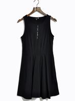 Spring high waist slim thick three-dimensional cotton tank dress sleeveless one-piece dress plus size