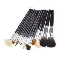 15PCS Black Handle Makeup Brush TOOL Kits With Black Pouch Pony Brush, Goat Hair Brush FOR Blush/ Lip /, Mascara  FREESHIPPING