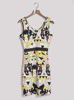Fashion autumn gauze sexy cutout slim sleeveless one-piece dress tank dress plus size