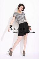 2013 loose fashion loose t-shirt o-neck short-sleeve female plus size