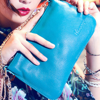 2013 women's handbag female day clutch chain genuine leather cross-body bag fashion clutch bag