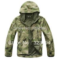 Free Shipping Shark Skin Soft Shell Tactical Jacket, Army Combat Outdoor Jacket, XS, S, M, L, XL, XXL, XXXL