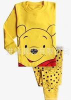 free shipping 2013 new 100% cotton cartoon baby pajamas of the children pyjamas kids baby clothing 2 pcs set