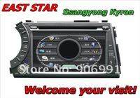 Car AUDIO DVD for Ssangyong Kyron Built-in GPS Bluetooth CD MP3/4 Radio Tuner TV DVB-T ipod rds Free shipping ES-1708