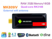 Quad-core RK3188 Andriod 4.2 tv box 2GB/16GB External wifi antenna HDMI 3D Movie Play  DLNA 1080P XBMC  mini pc 5pcs/lots