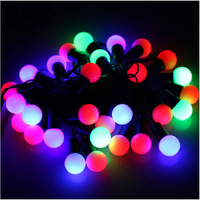 Free shipping:4 m 30 beads color dual flash LED light bulbs christmas lights< especially tailored>