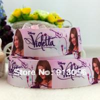 """Free shipping 50 yards 1""""(25MM) Violetta ribbon 46600-XW-639-025"""