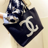 Free Shipping New Vintage Celebrity PU Leather Tote Shoulder Shopper Bags Women Handbags