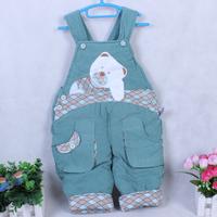Children's clothing cotton bib pants cartoon bear suspenders dual corduroy pants