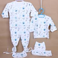 100% cotton spring and summer newborn underwear baby long johns long johns hat baby supplies 100% 6 piece set cotton