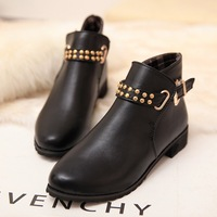 Fashion popular fashion vintage rivet elastic strap with the boots martin boots