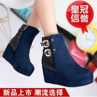 Boots rivet high-heeled zipper elegant boots women's autumn and winter martin boots platform slip-resistant plus size female