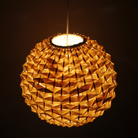 Chinese style rustic spherical brief rattan home lighting