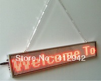 Free Shipping 10pcs/lot sale LED car screen digit board led diplay Support Russian Spain Red color 16*80 pixel moving signs