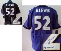 Cheap Men's 2013 Superbowl XLVII Elite Signature #52 Ray Lewis American Baltimore Football Jerseys Free Shipping, Size: 40-56