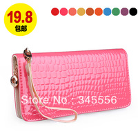 2013 free shipping female Brand handbags coins purse long zipper design fashion women's wallet leather card package evening bags