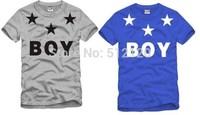 free shipping 2014 summer kids t shirt bigbang boy london five star printed t shirt bigbang tops tee shirt 100% cotton 6 color