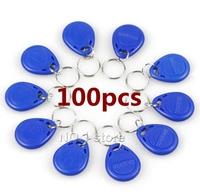 100pcs 125Khz RFID Proximity ID Card Token Tags Key Keyfobs for Access Control System