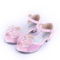 girls summer sandals 2013 child  fashion all-match princess dance shoes ,female children leather sandals with bow summer  shoes